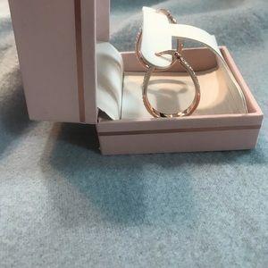 NIB- pink Swarovski crystals earrings-Sofia James